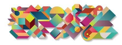 Abstrakcjonistyczna kolorowa tangram ilustracja Obrazy Stock