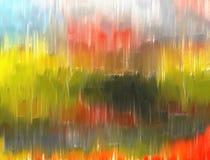Abstrakcjonistyczna kolorowa tekstura lub tło w zieleni, błękicie i pomarańcze, Fotografia Royalty Free