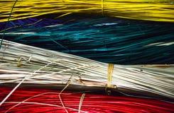Abstrakcjonistyczna kolorowa tekstura od bambusowych kijów fotografia royalty free