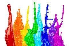 Abstrakcjonistyczna koloru pluśnięcia tęcza Obrazy Stock