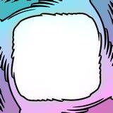 Abstrakcjonistyczna komiks rama, t?o lub royalty ilustracja