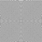 Abstrakcjonistyczna koncentrycznych okregów tekstura w czarny i biały kolorach, tło wzór w nowożytnym stylu ilustracji