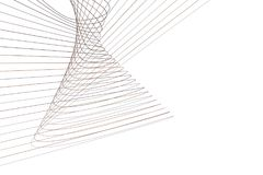 Abstrakcjonistyczna konceptualna geometryczna linia & krzywa wzór Skutek, round, kreatywnie & upaćkany ilustracja wektor