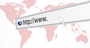 Abstrakcjonistyczna kreatywnie pojęcie mapa świat http:wwww i, globalna internet technologia Fotografia Royalty Free
