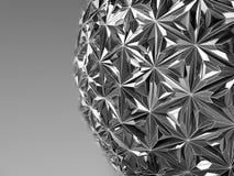 Abstrakcjonistyczna Kruszcowa sfera ilustracja 3 d Odosobnione szarość Zdjęcie Stock