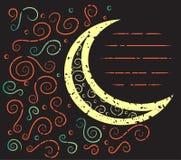 Abstrakcjonistyczna księżyc, grunge wzór Zdjęcia Stock