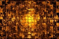Abstrakcjonistyczna kubiczna przestrzeń Obraz Royalty Free