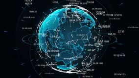Abstrakcjonistyczna kula ziemska z plexus Ziemia okrywa w technologiach cyfrowych zbiory wideo
