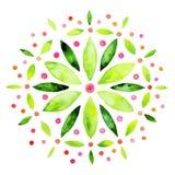 Abstrakcjonistyczna kwiat akwarela Fotografia Stock