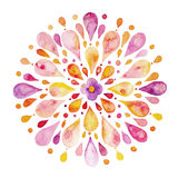 Abstrakcjonistyczna kwiat akwarela ilustracji