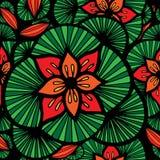 abstrakcjonistyczna kwiatu wzoru czerwień bezszwowa Zdjęcia Royalty Free