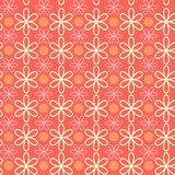 Abstrakcjonistyczna kwiatu wzoru tapeta również zwrócić corel ilustracji wektora Bezszwowy tło Fotografia Royalty Free