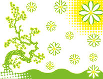 abstrakcjonistyczna kwiatu zieleni ilustraci wiosna royalty ilustracja