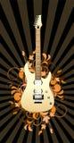 abstrakcjonistyczna kwiecista gitara Zdjęcie Royalty Free