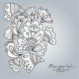 abstrakcjonistyczna kwiecista ilustracja Obraz Royalty Free