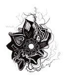 abstrakcjonistyczna kwiecista ilustracja Obrazy Royalty Free