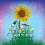 abstrakcjonistyczna kwiecista ilustracja Zdjęcia Royalty Free