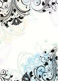 abstrakcjonistyczna kwiecista rama Fotografia Royalty Free