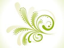 abstrakcjonistyczna kwiecista zieleń Zdjęcia Stock