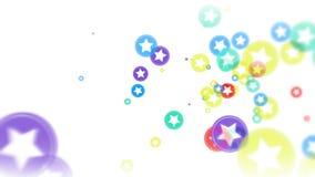Abstrakcjonistyczna latająca kolorowa łuna okrąża cząsteczki royalty ilustracja