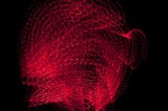 abstrakcjonistyczna lekka czerwona burza Fotografia Stock