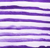 Abstrakcjonistyczna lila akwarela na papierowej teksturze jako tło Obrazy Stock