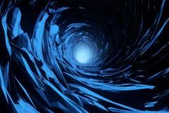 Abstrakcjonistyczna lodowa jama ilustracja wektor