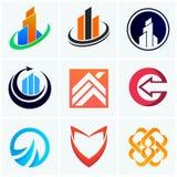 Abstrakcjonistyczna logo firma podpisuje wektorowe ikony Zdjęcia Royalty Free