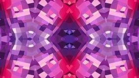 Abstrakcjonistyczna macha 3D poligonalna czerwona fiołkowa siatka lub siatka tętniący geometryczni przedmioty Use jako abstrakcjo zbiory wideo