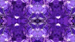 Abstrakcjonistyczna macha 3D poligonalna siatka lub siatka tętniący geometryczni przedmioty Use jako abstrakcjonistyczna cyberprz zbiory wideo