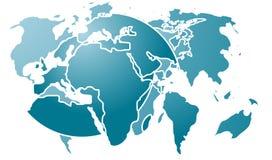 abstrakcjonistyczna mapa Zdjęcia Royalty Free