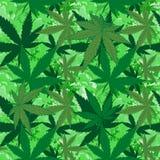 Abstrakcjonistyczna marihuana na marmurowego tła bezszwowym wzorze Fotografia Royalty Free