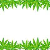 Abstrakcjonistyczna marihuany tła wektoru ilustracja Fotografia Royalty Free