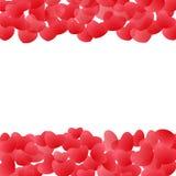 Abstrakcjonistyczna miłość dla twój walentynka dnia kartka z pozdrowieniami projekta Czerwona serce rama odizolowywająca na biały Fotografia Royalty Free