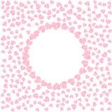 Abstrakcjonistyczna miłości rama od wzoru serca Dla kartka z pozdrowieniami, zaproszenie walentynki dzień, poślubia, urodziny Fotografia Stock