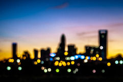 Abstrakcjonistyczna miasto linii horyzontu sylwetka przy wczesnego poranku wschodem słońca Zdjęcie Royalty Free