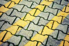 Abstrakcjonistyczna miastowa tło tekstura Żółtych linii wzór Zdjęcia Royalty Free