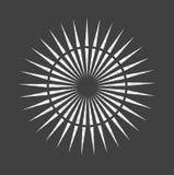 Abstrakcjonistyczna minimalna czarny i biały gwiazda dla projekta Eps 10 fotografii akcyjnej ilustraci Obrazy Royalty Free