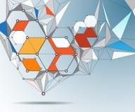 Abstrakcjonistyczna molekuły struktura na świetle - szarość barwią tło Fotografia Stock