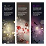 Abstrakcjonistyczna molekuła projekta wektoru ilustracja Fotografia Stock