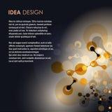 Abstrakcjonistyczna molekuła projekta wektoru ilustracja Obrazy Stock