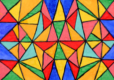abstrakcjonistyczna mozaiki ornamentu papieru akwarela ilustracja wektor