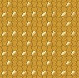 Abstrakcjonistyczna mozaiki płytka w złotym projekcie Zdjęcie Royalty Free