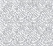 Abstrakcjonistyczna mozaiki przerwa rzędu bezszwowym wzorem Czerepy okrąg kłaść out od płytek trencadis Wektorowy tło Obrazy Royalty Free