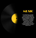 Abstrakcjonistyczna muzyczna tła wektoru ilustracja dla Obrazy Royalty Free