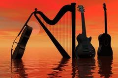 abstrakcjonistyczna muzyka Zdjęcia Stock