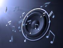 abstrakcjonistyczna muzyka Obrazy Stock