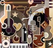Abstrakcjonistyczna muzyka - wektorowa ilustracja Obraz Stock