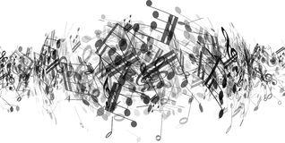 Abstrakcjonistyczna muzyka zauważa tło Obraz Royalty Free