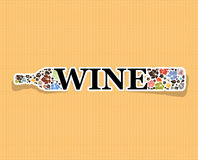 Abstrakcjonistyczna napoju tła alkoholu wina butelka Fotografia Royalty Free